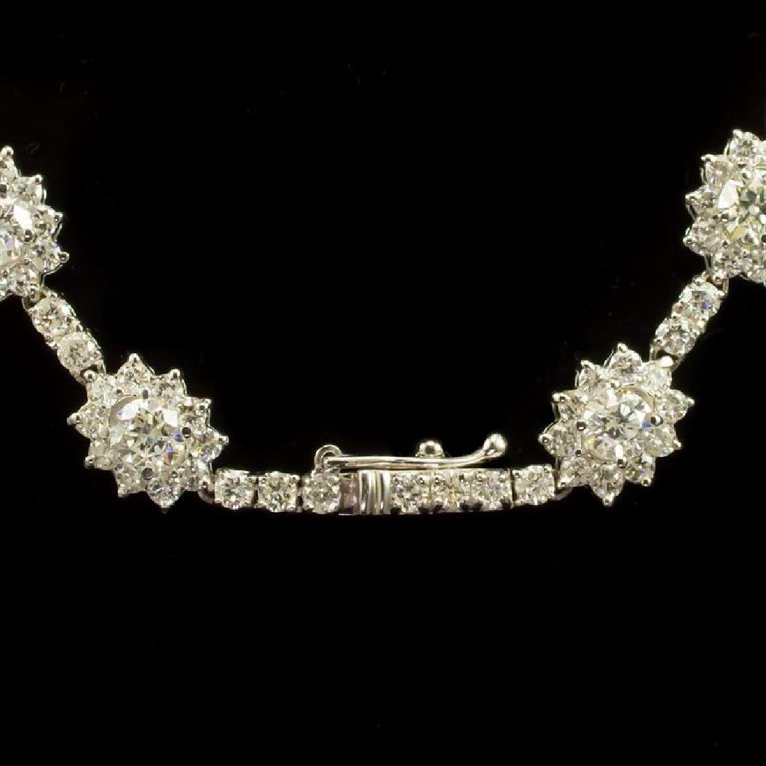 18K Gold 18.22ct Diamond Necklace - 3