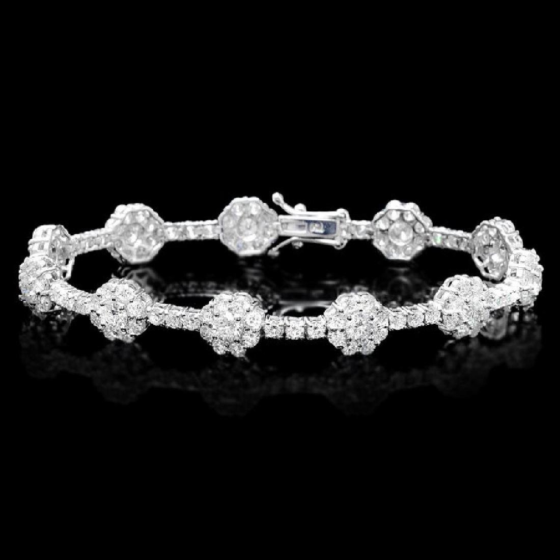 18k White Gold 8.20ct Diamond Bracelet