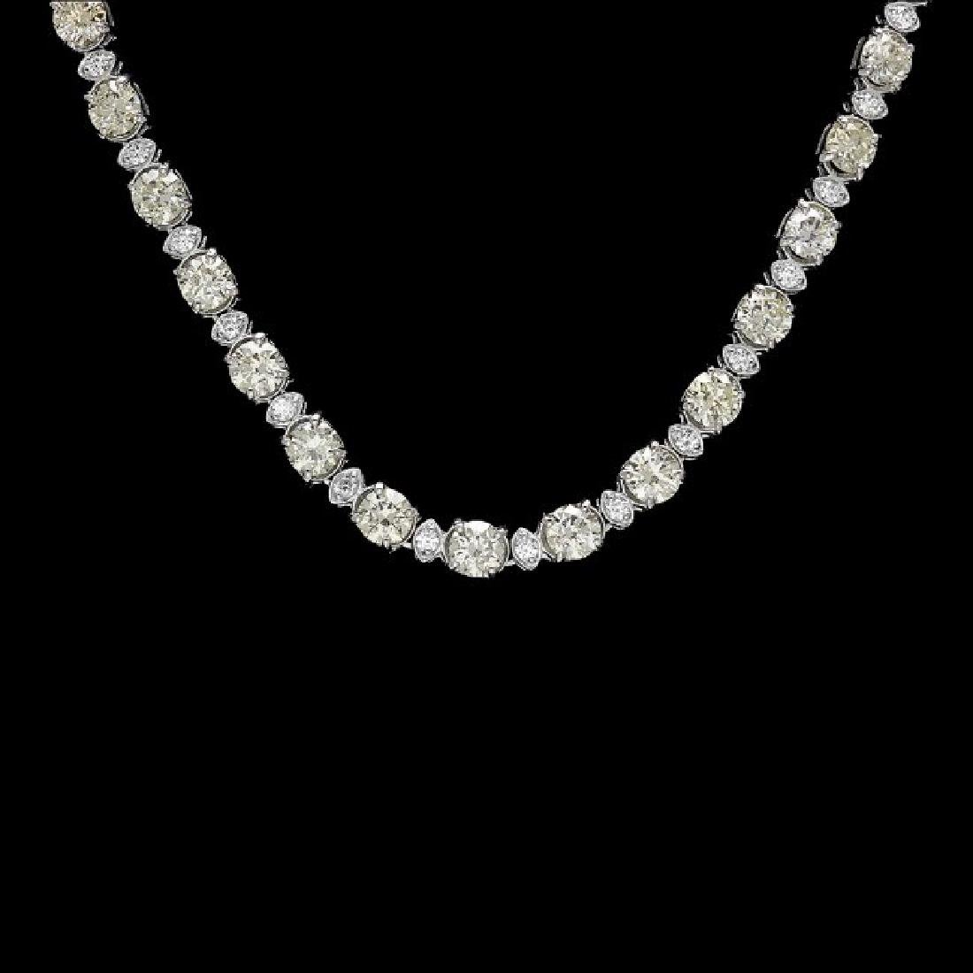 18k White Gold 17ct Diamond Necklace