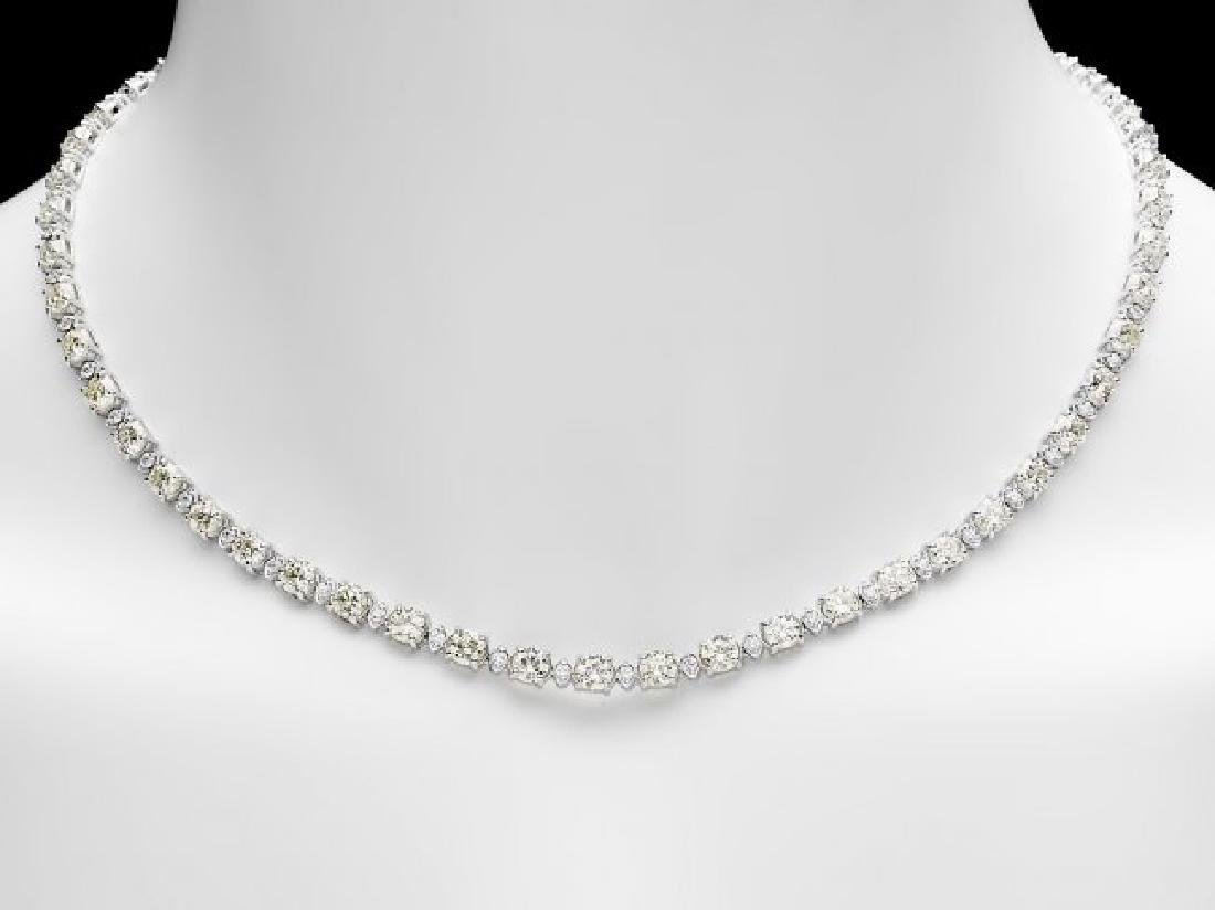 18k White Gold 17ct Diamond Necklace - 5