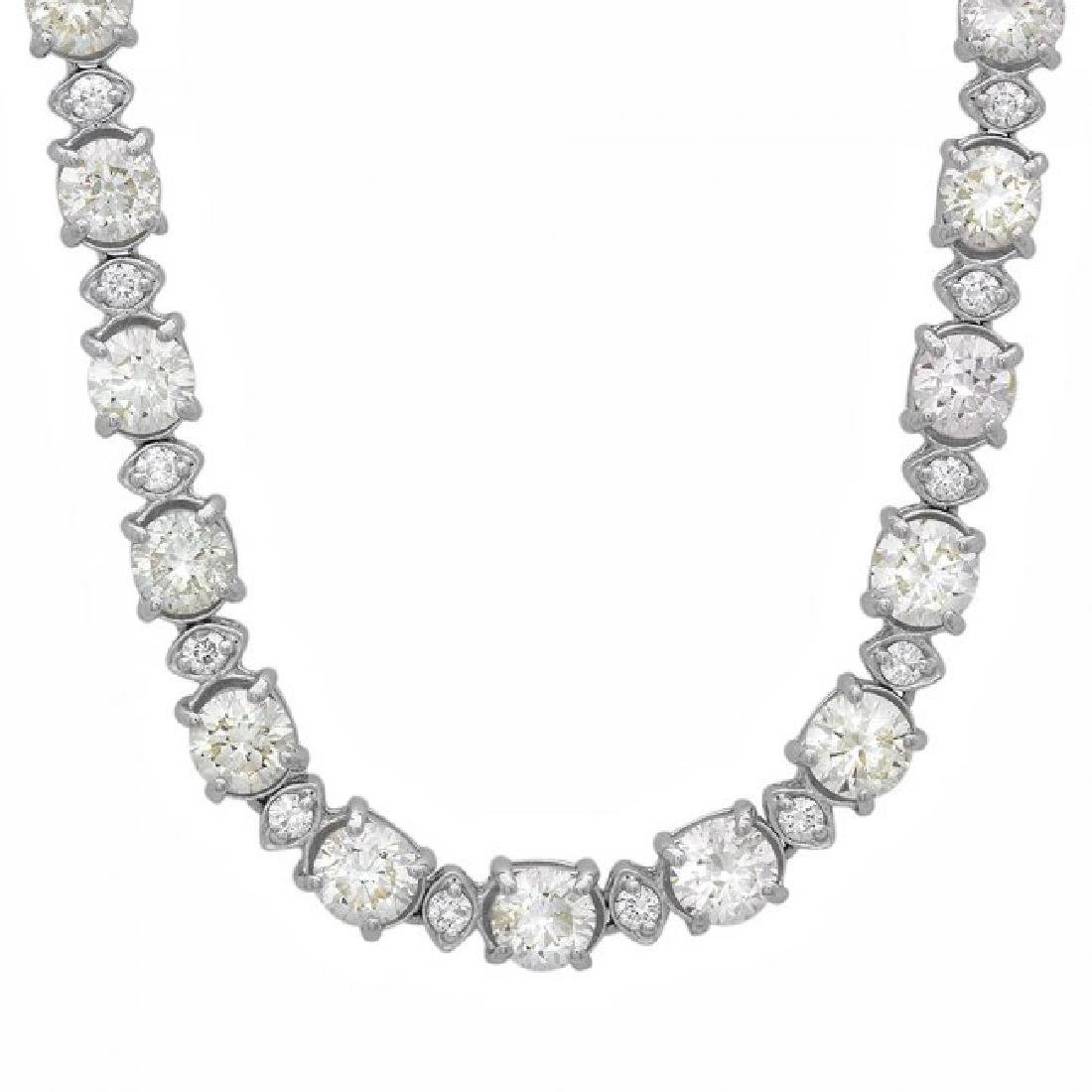 18k White Gold 17ct Diamond Necklace - 6