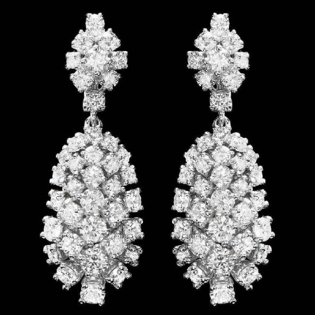 14k Gold 5.32ct Diamond Earrings
