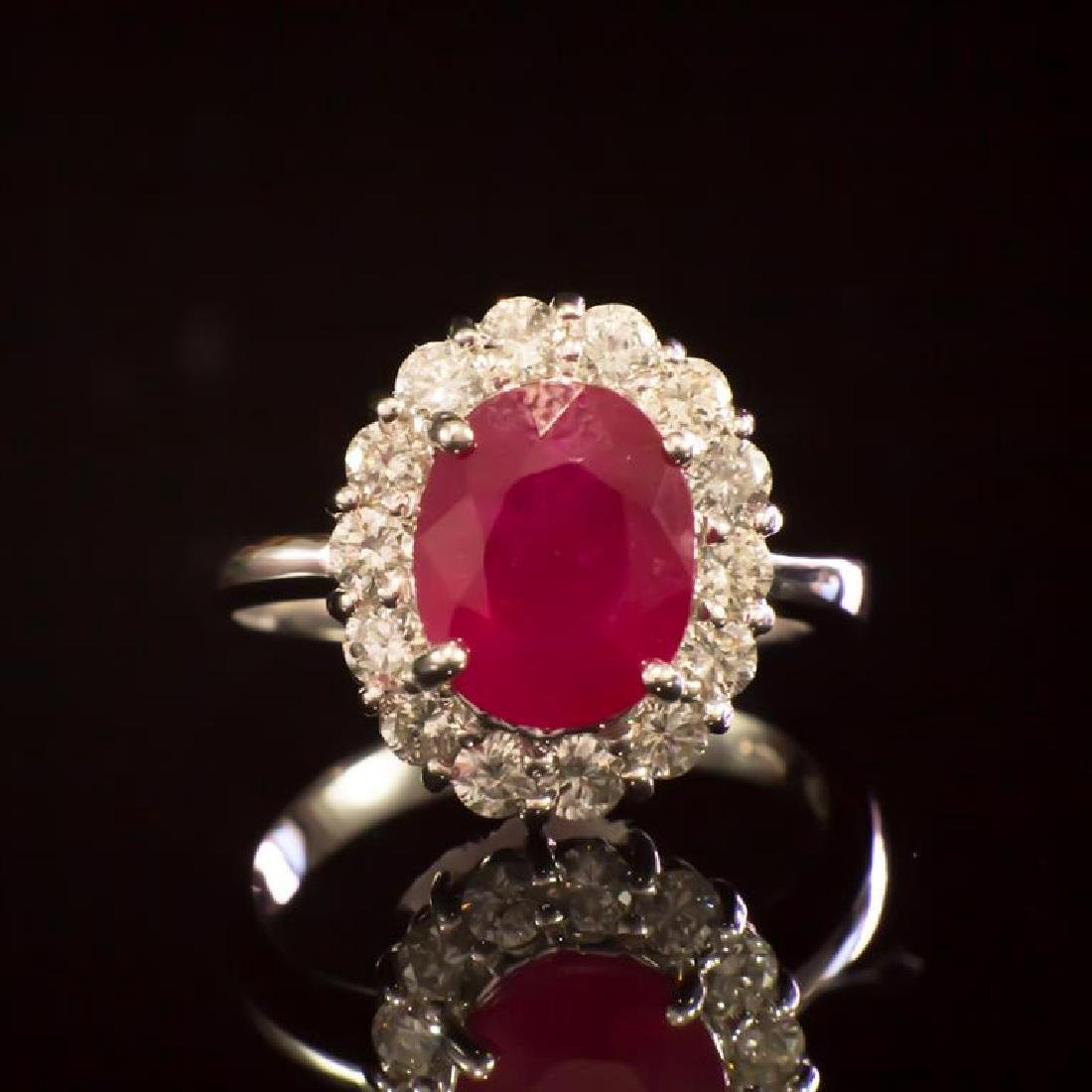 14K Gold 3.96ct Ruby 1.00ct Diamond Ring