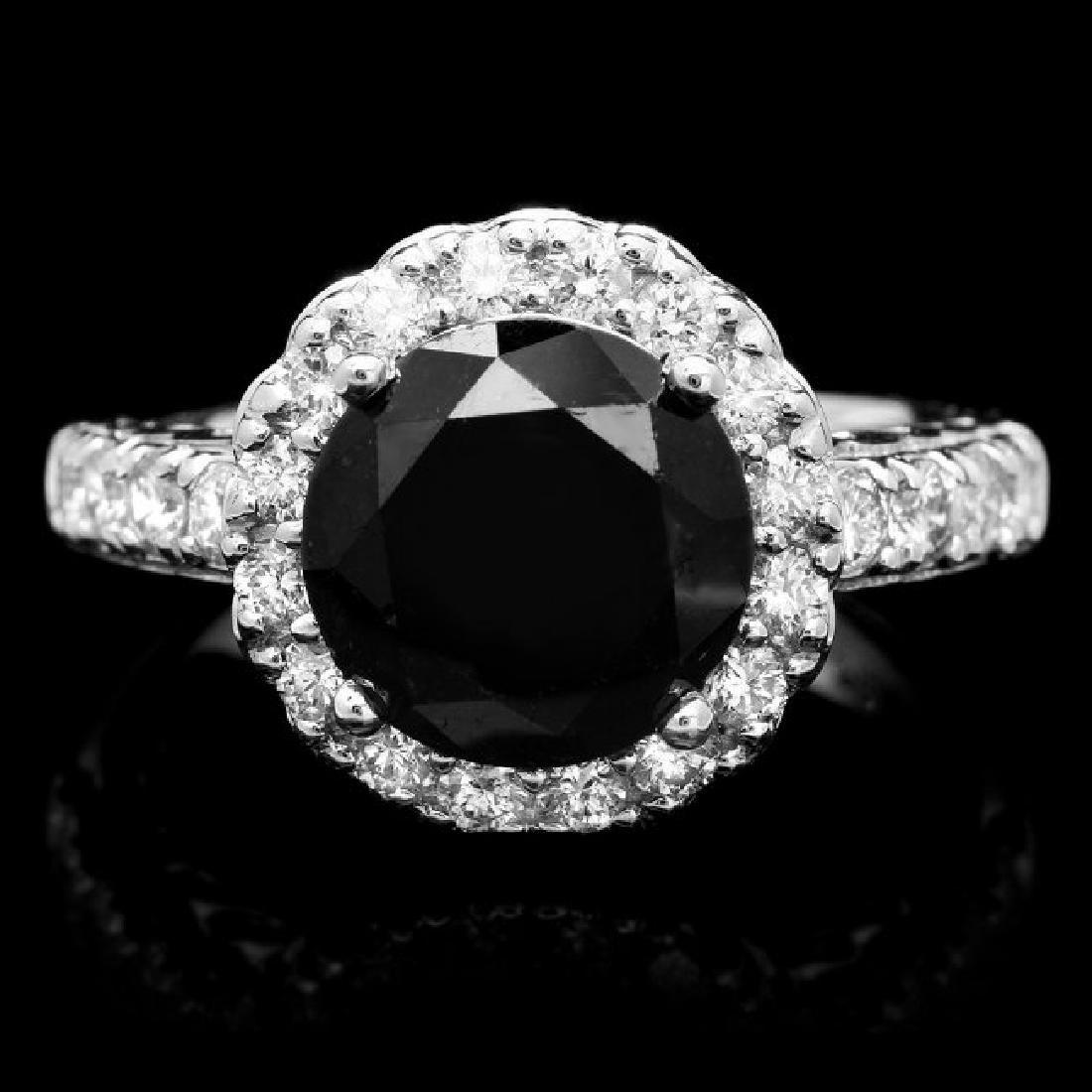 14k White Gold 4.35ct Diamond Ring