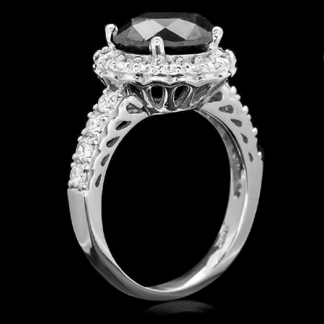 14k White Gold 4.35ct Diamond Ring - 3