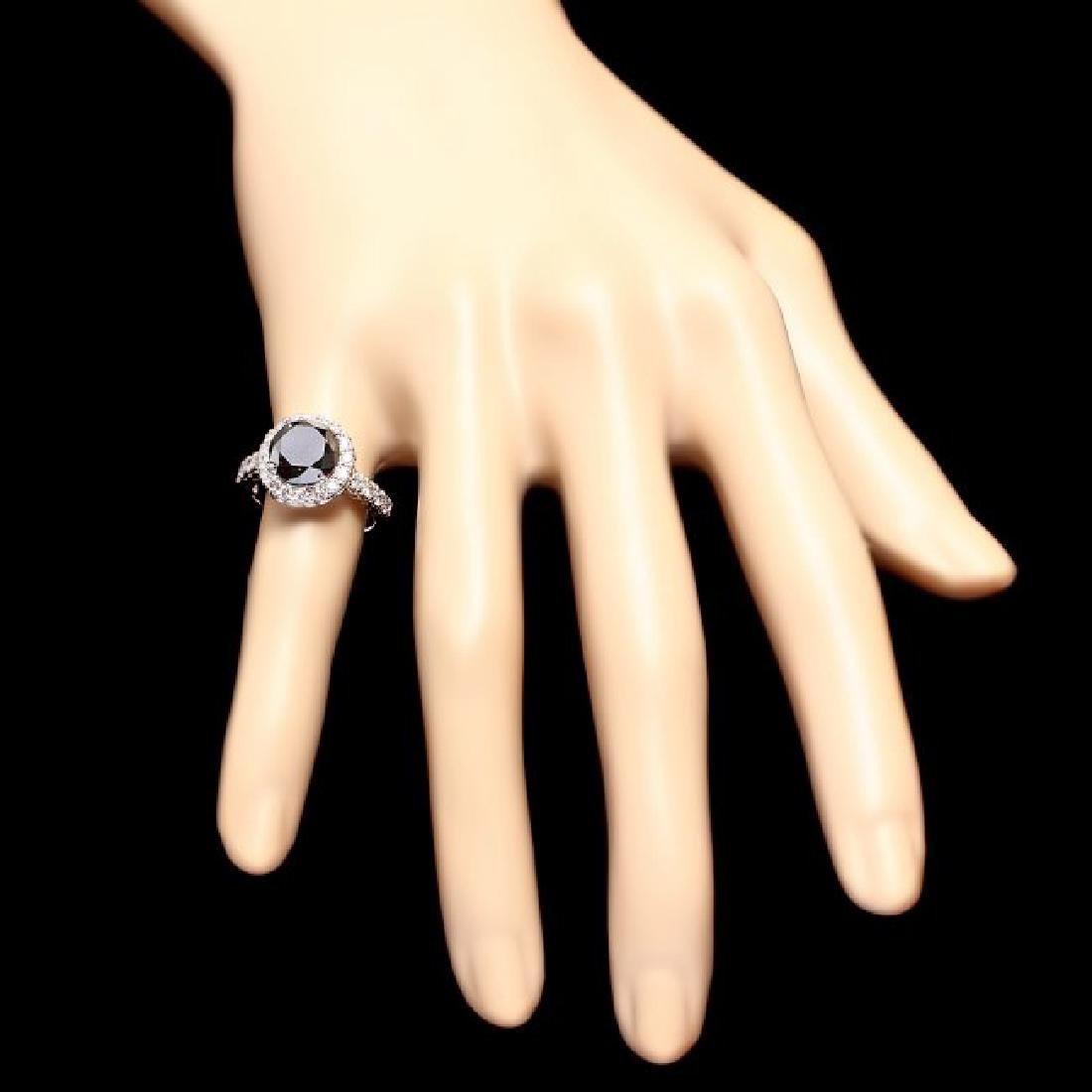 14k White Gold 4.35ct Diamond Ring - 4