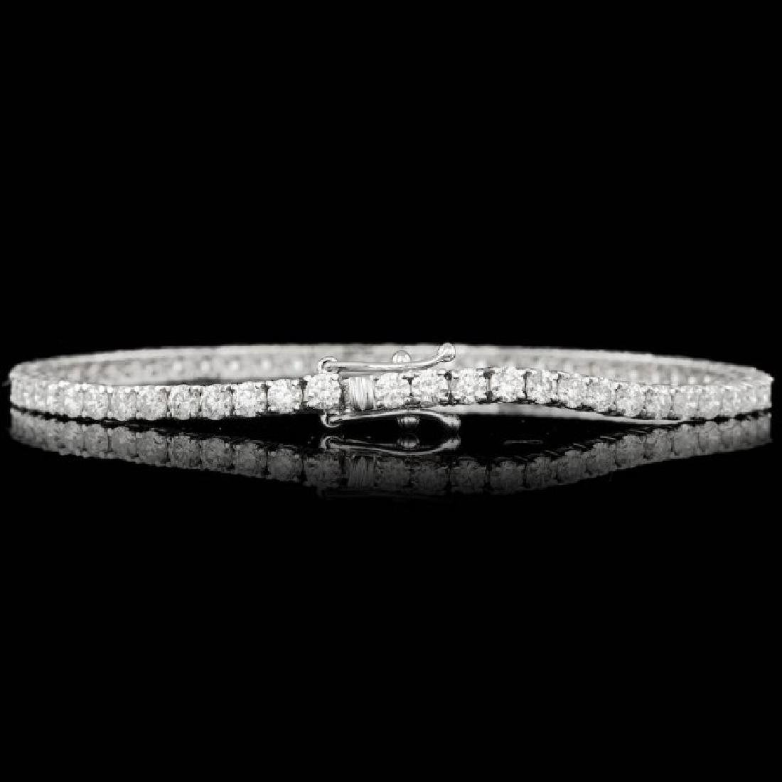 18k White Gold 5.30ct Diamond Bracelet - 3
