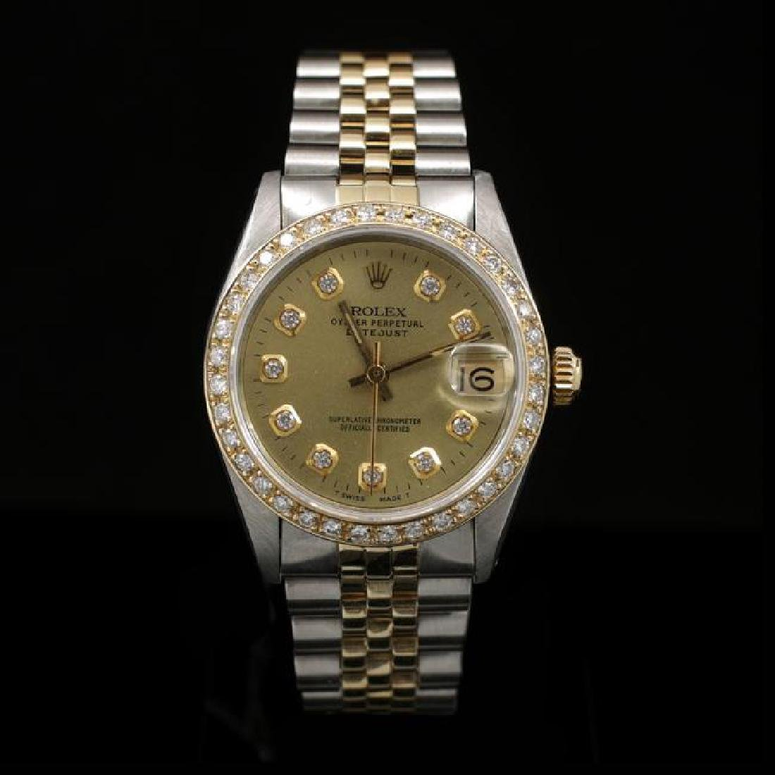 Rolex DateJust Two-Tone 31mm Custom Diamond Bezel