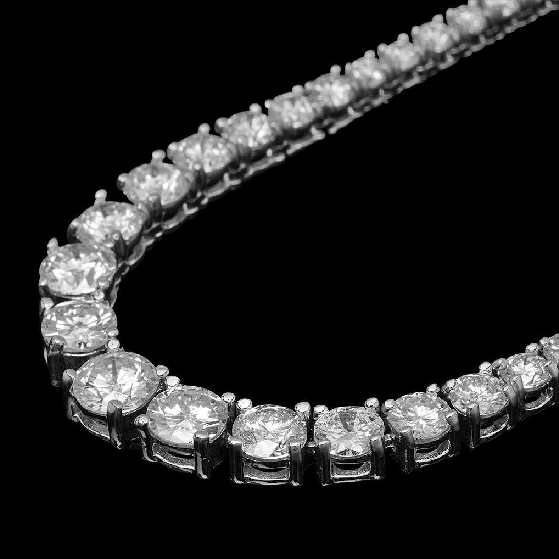 18K Gold 7.57ct Diamond Necklace - 2