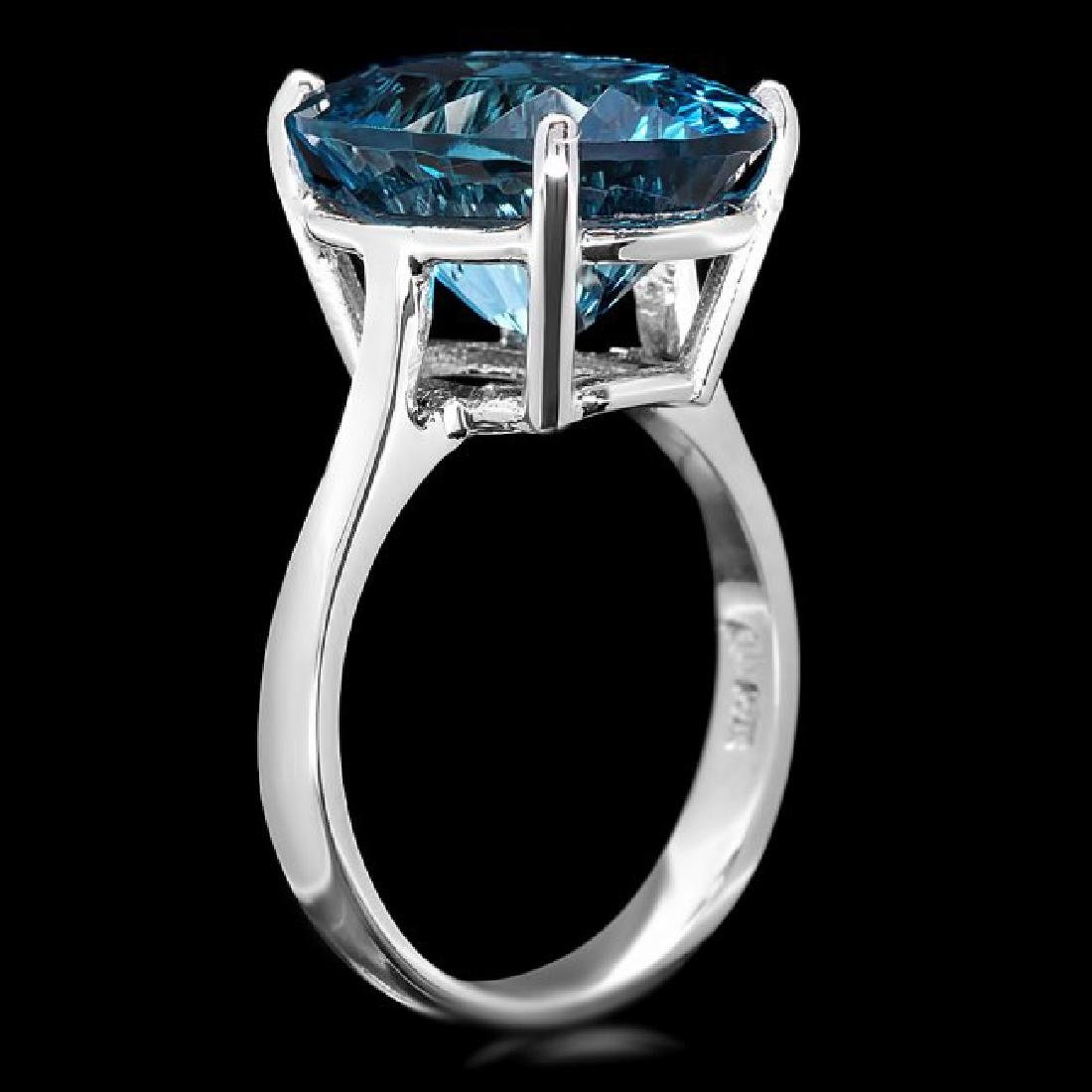 14k White Gold 10.00ct Topaz Ring - 3