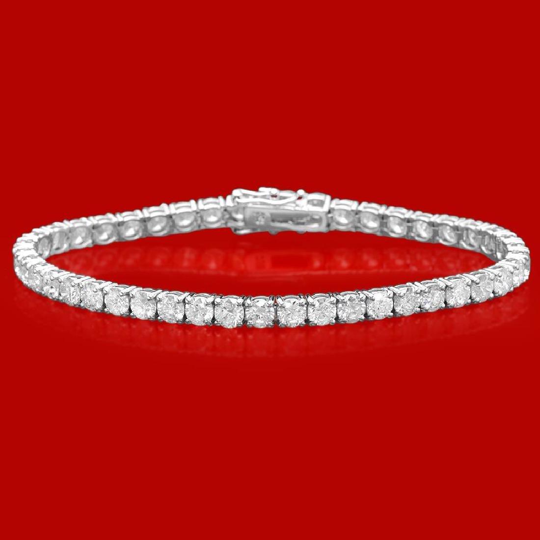 18k Gold 11.28ct Diamond Bracelet