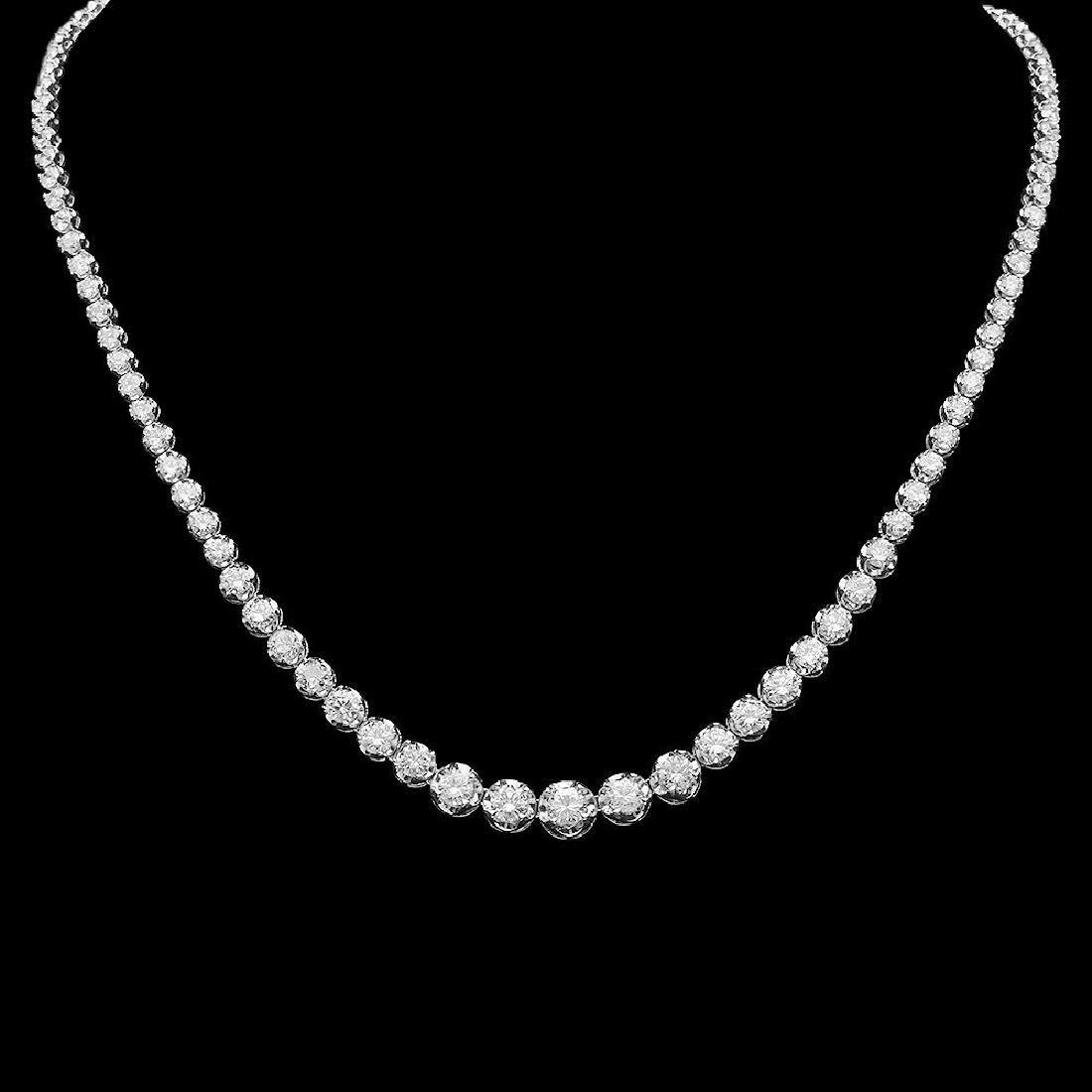 14K Gold 11.00ct Diamond Necklace