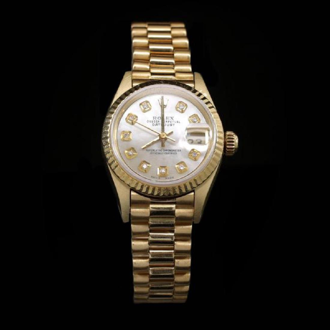 Rolex DateJust 18k Solid Gold Ladies Presidential 26mm