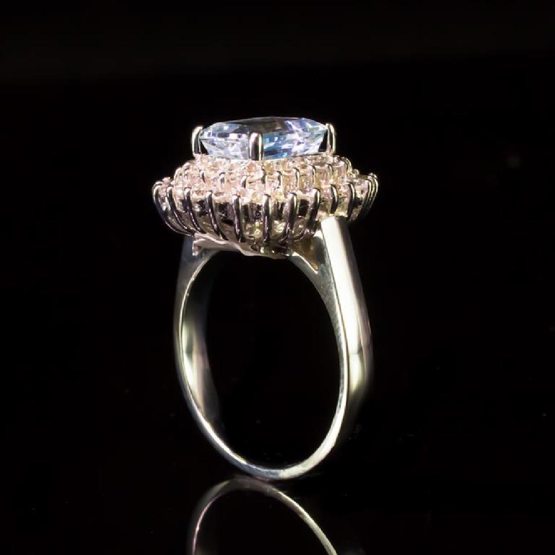 14k Gold 2.06ct Aquamarine 1.11ct Diamond Ring - 3