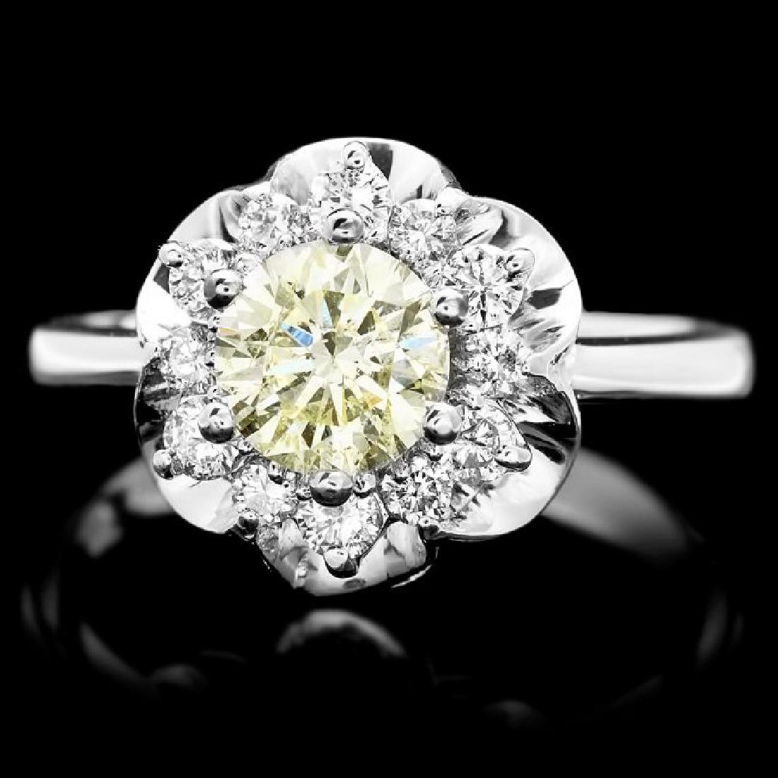 14k White Gold 1.3ct Diamond Ring