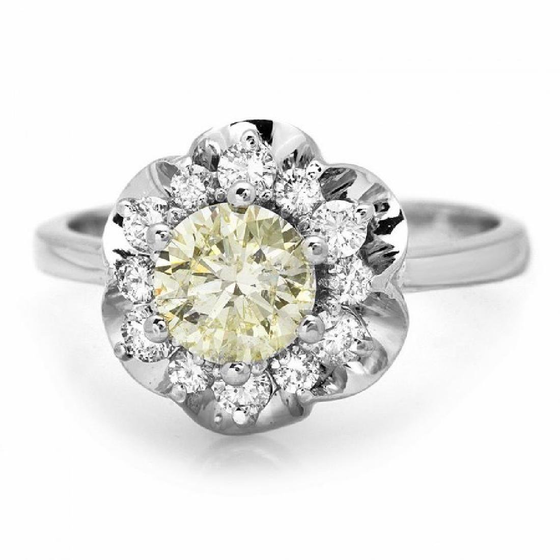 14k White Gold 1.3ct Diamond Ring - 2