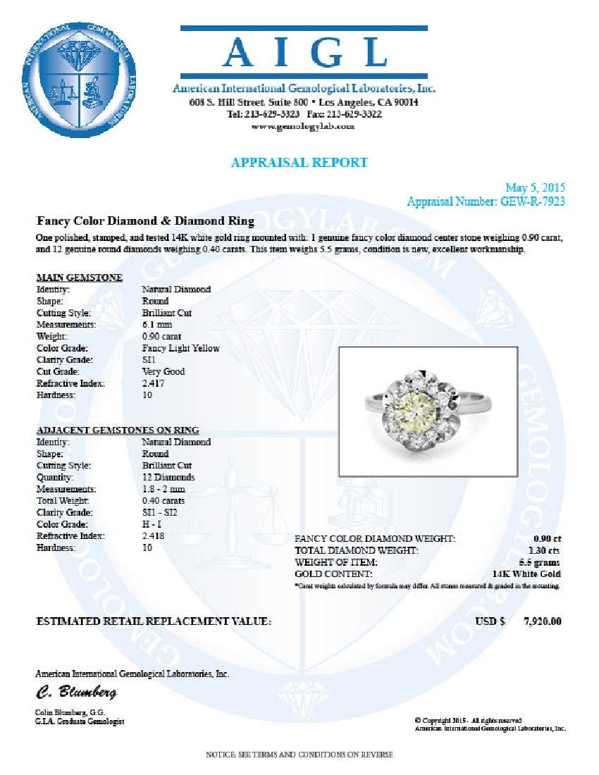 14k White Gold 1.3ct Diamond Ring - 5