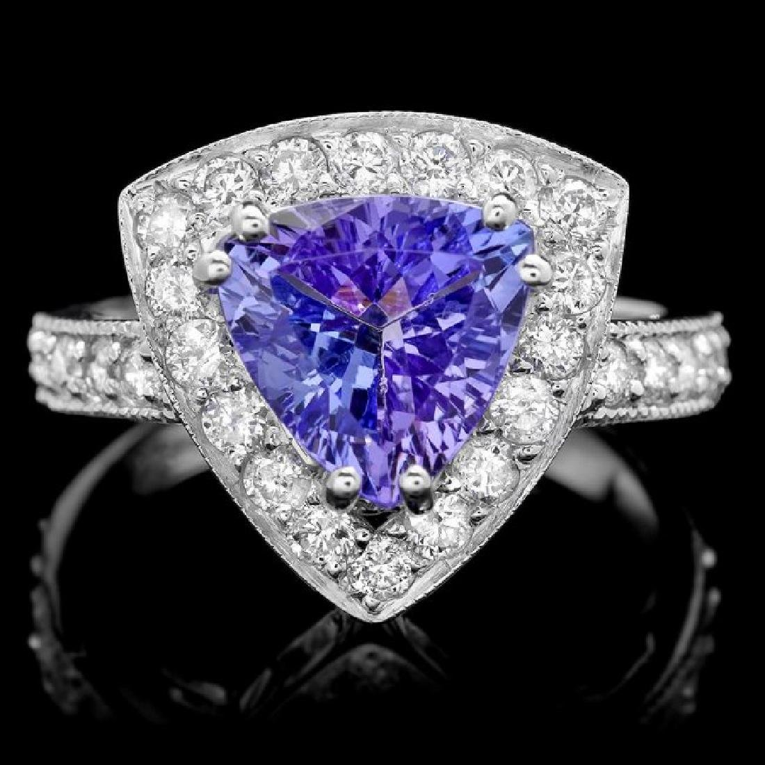 14k Gold 2.40ct Tanzanite 1.00ct Diamond Ring