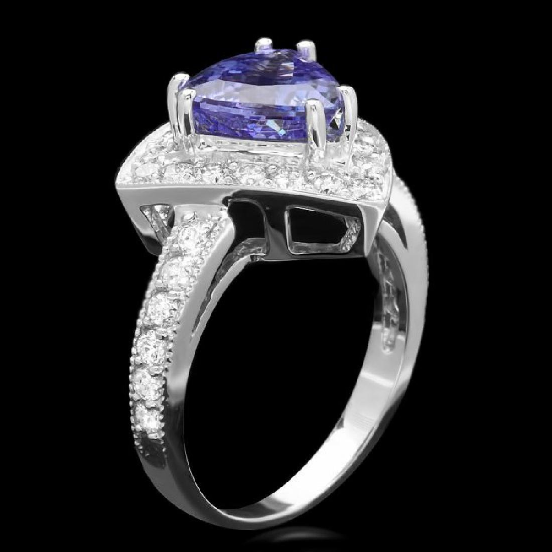14k Gold 2.70ct Tanzanite 1.10ct Diamond Ring - 2