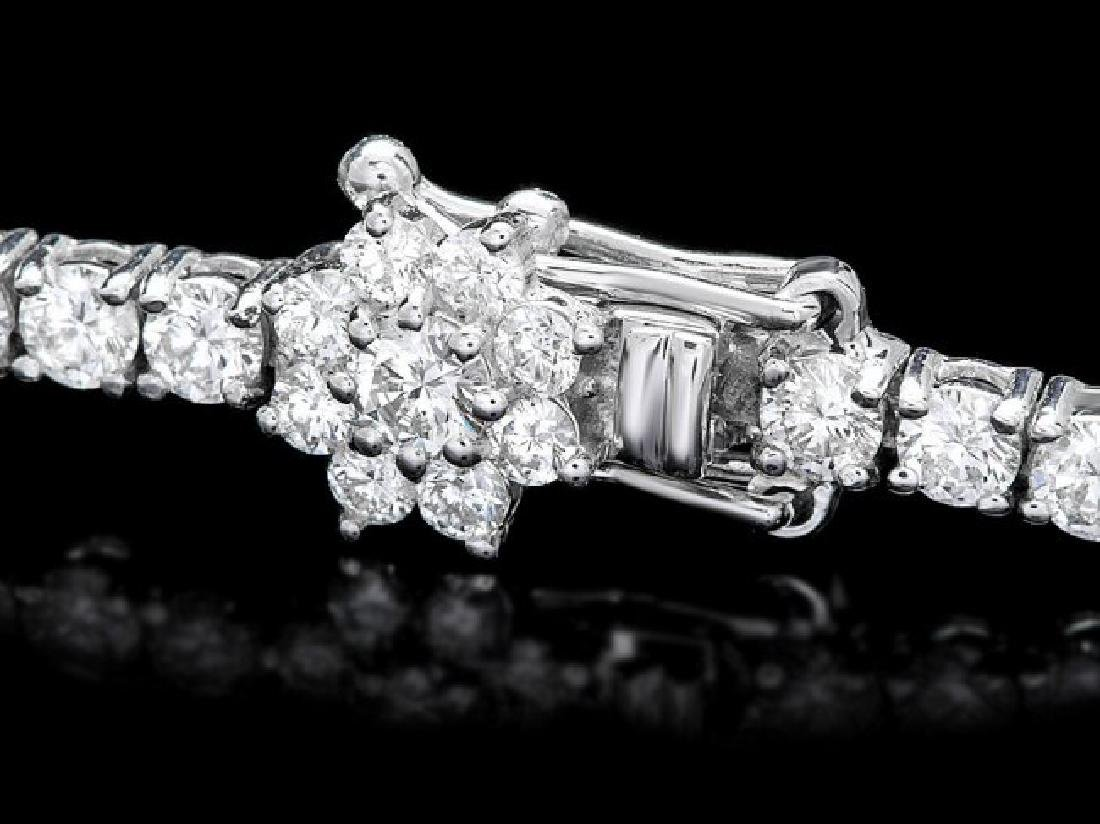 18k White Gold 4.45ct Diamond Bracelet - 2