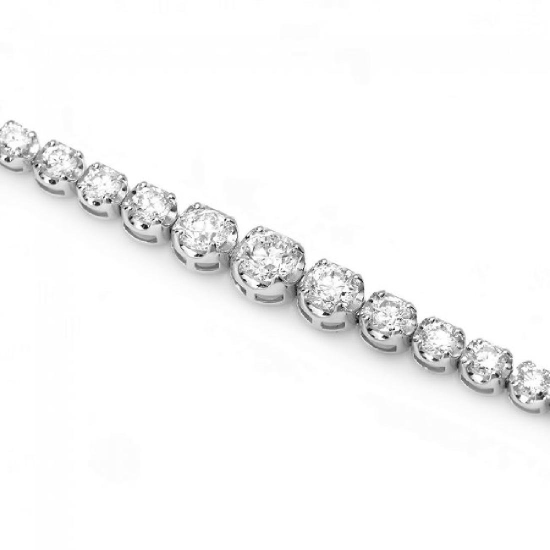 18k White Gold 4.50ct Diamond Bracelet - 3
