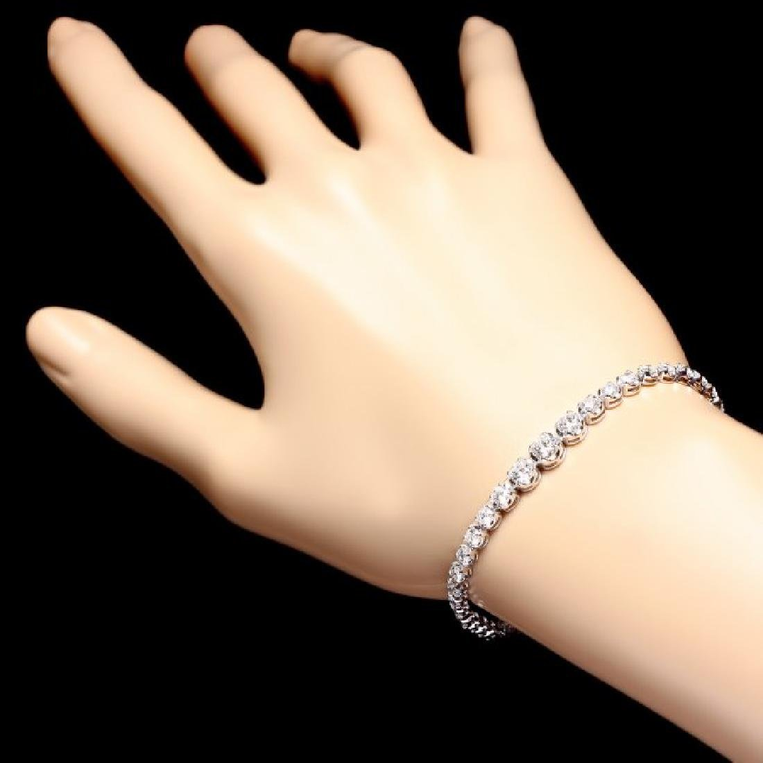 18k White Gold 4.50ct Diamond Bracelet - 5