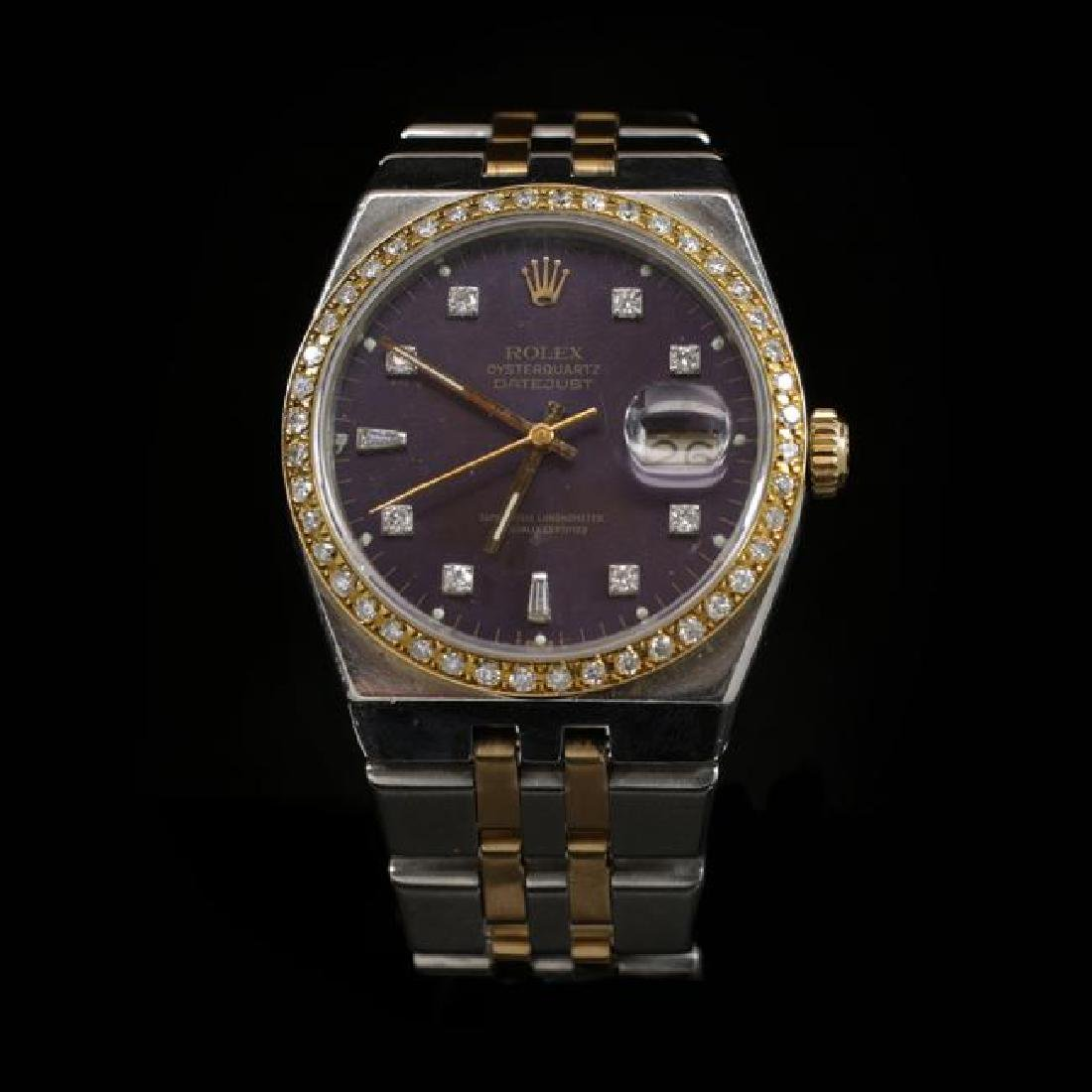 Rolex DateJust Two-Tone Quartz Model 36mm Custom