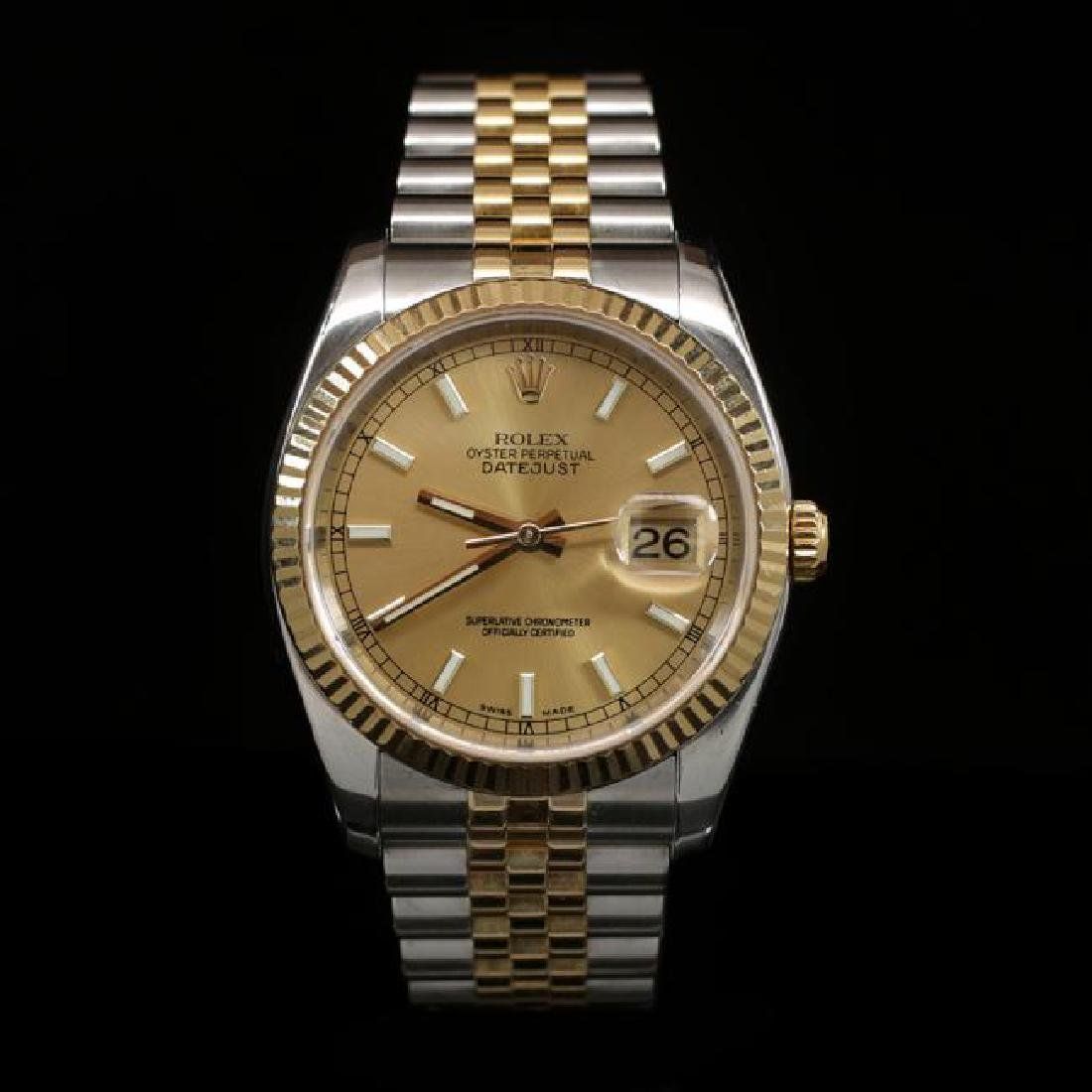 Rolex DateJust Two-Tone 36mm Men's Wristwatch