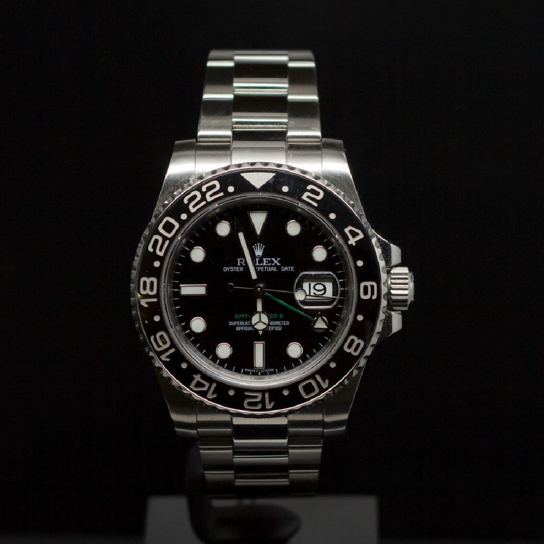 Rolex Stainless Steel 40mm GMT Master II Ceramic Bezel