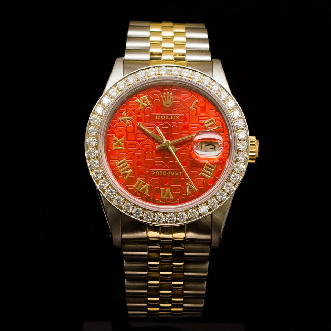 Rolex Two-Tone Datejust 36mm Custom Diamond Dial aprox.