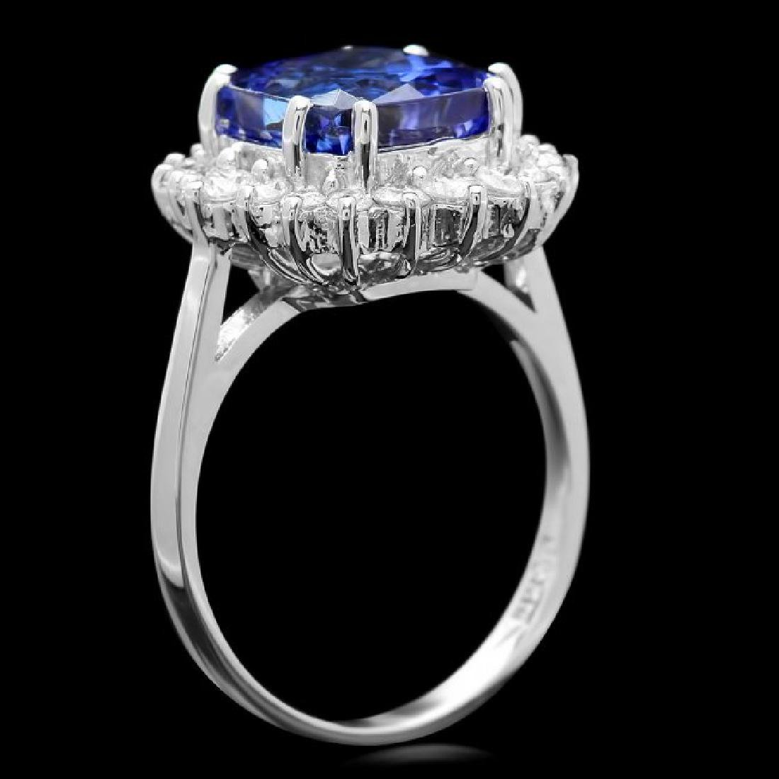 14k Gold 6.00ct Tanzanite 0.70ct Diamond Ring - 3