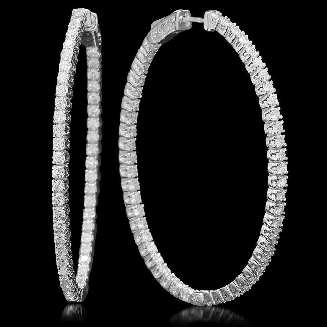14K Gold 3.83ct Diamond Earrings