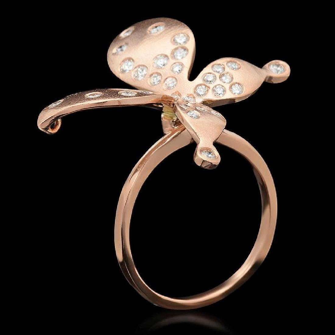 """14K Gold 0.78ct Diamond """"Butterfly"""" Ring - 2"""
