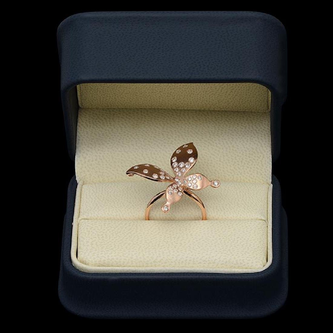"""14K Gold 0.78ct Diamond """"Butterfly"""" Ring - 3"""
