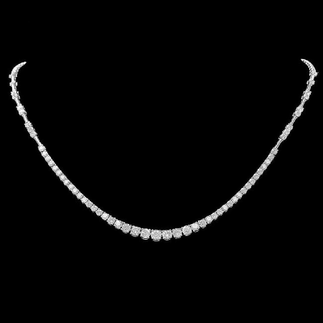 18k White Gold 5.80ct Diamond Necklace