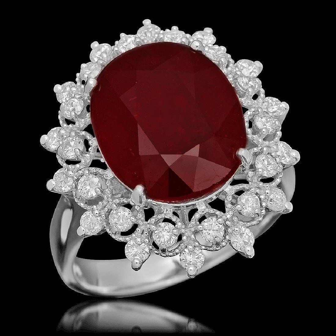 14K Gold 6.06ct Ruby 0.71ct Diamond Ring