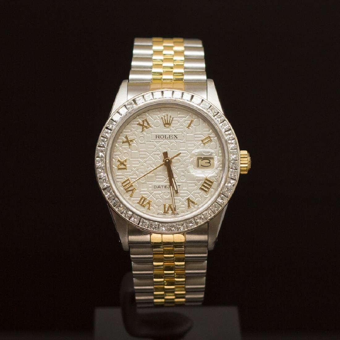Rolex Two-Tone Datejust 36mm Custom Silver Jubeele Dial