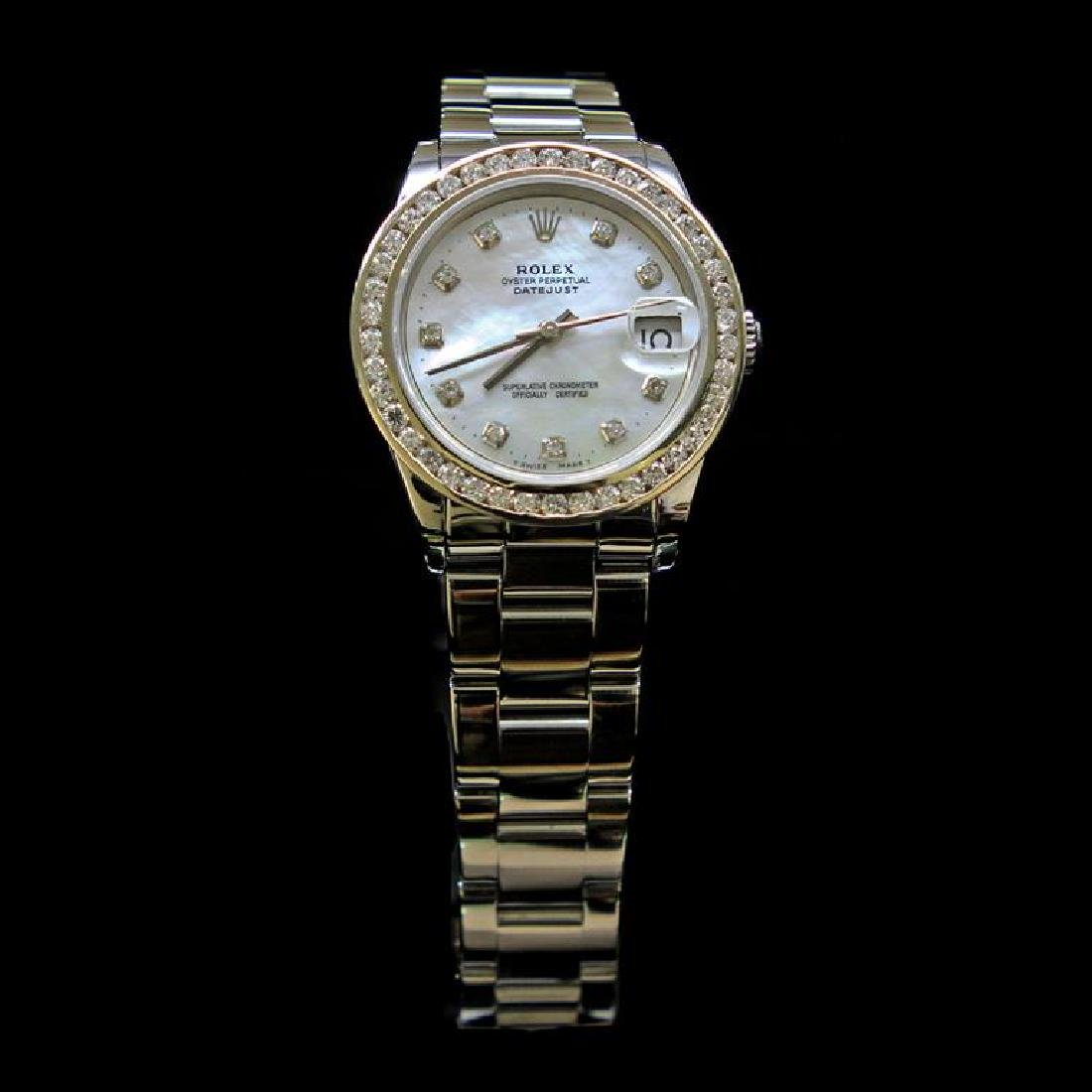 Rolex DateJust 31mm Oyster Band Diamond Dial & Bezel