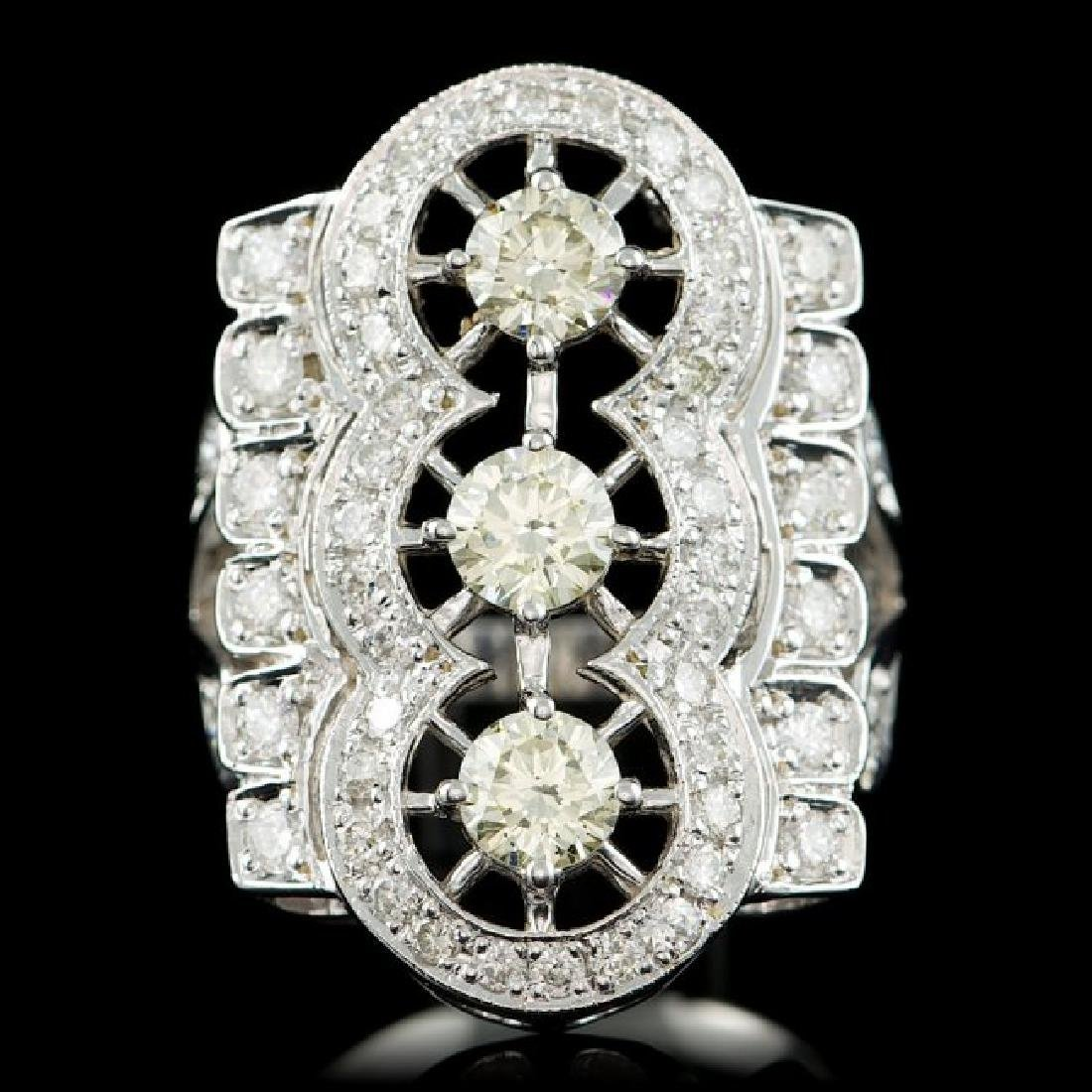 14k White Gold 2.7ct Diamond Ring