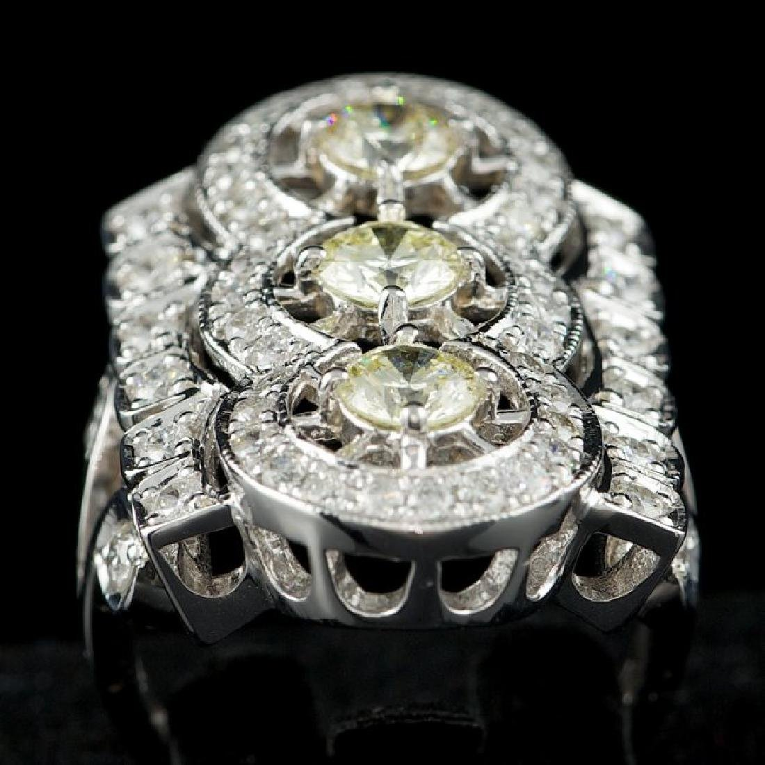 14k White Gold 2.7ct Diamond Ring - 3