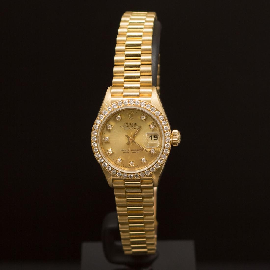Rolex 18K Gold Presidential 26mm Diamond Dial Diamond