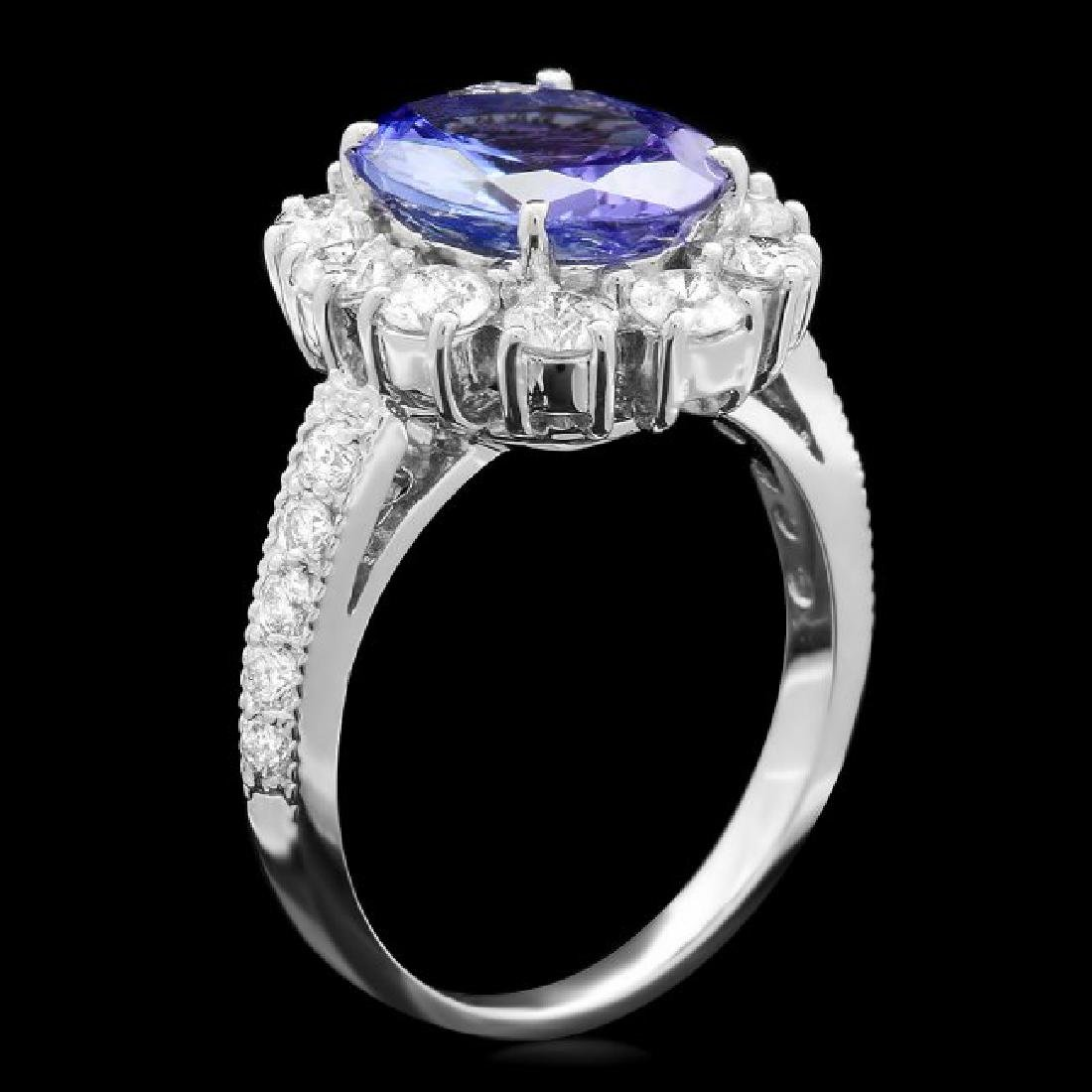14k Gold 3.00ct Tanzanite 1.40ct Diamond Ring - 2