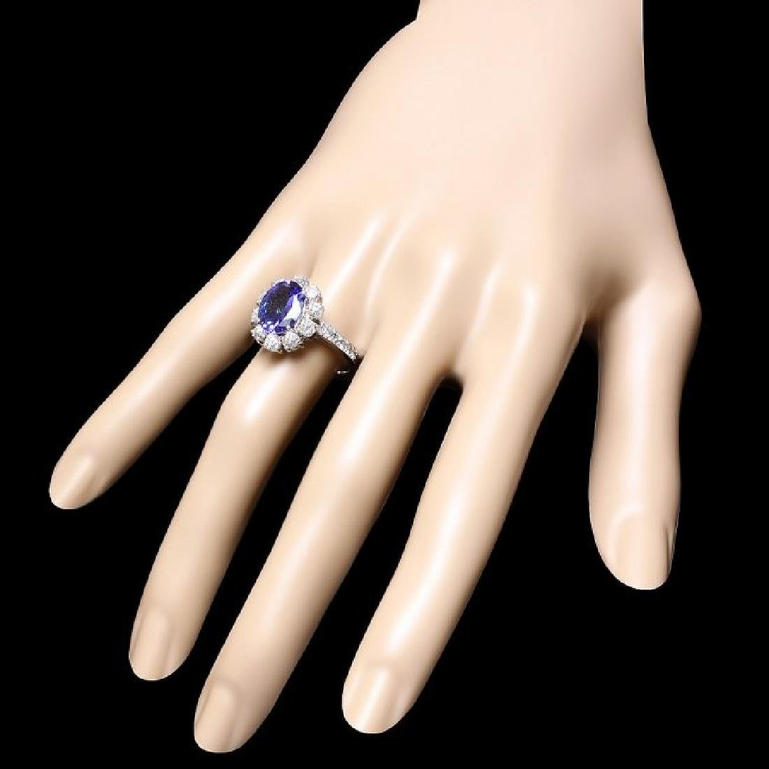 14k Gold 3.00ct Tanzanite 1.40ct Diamond Ring - 3