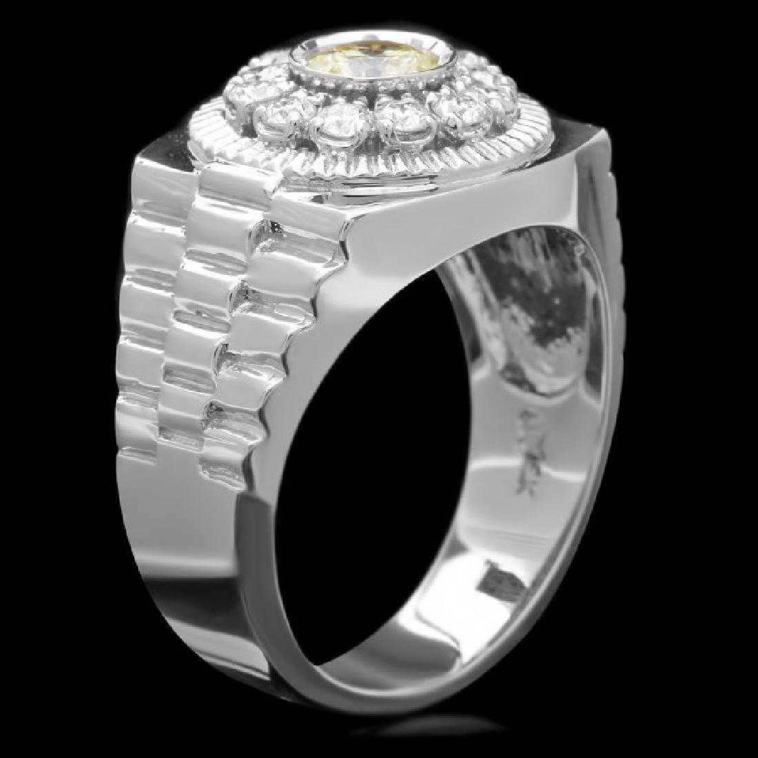 14k White Gold 1.05ct Diamond Ring - 3