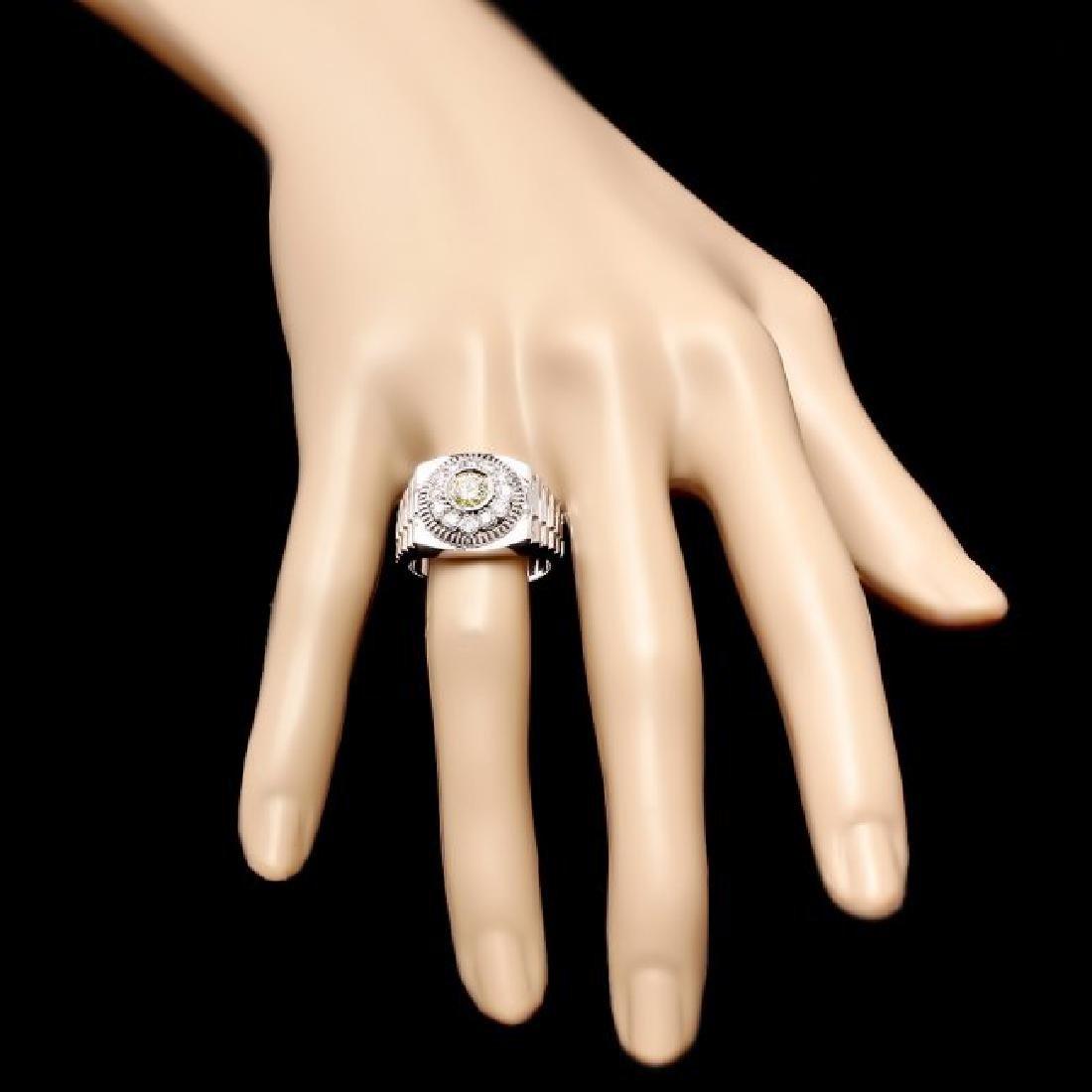 14k White Gold 1.05ct Diamond Ring - 4