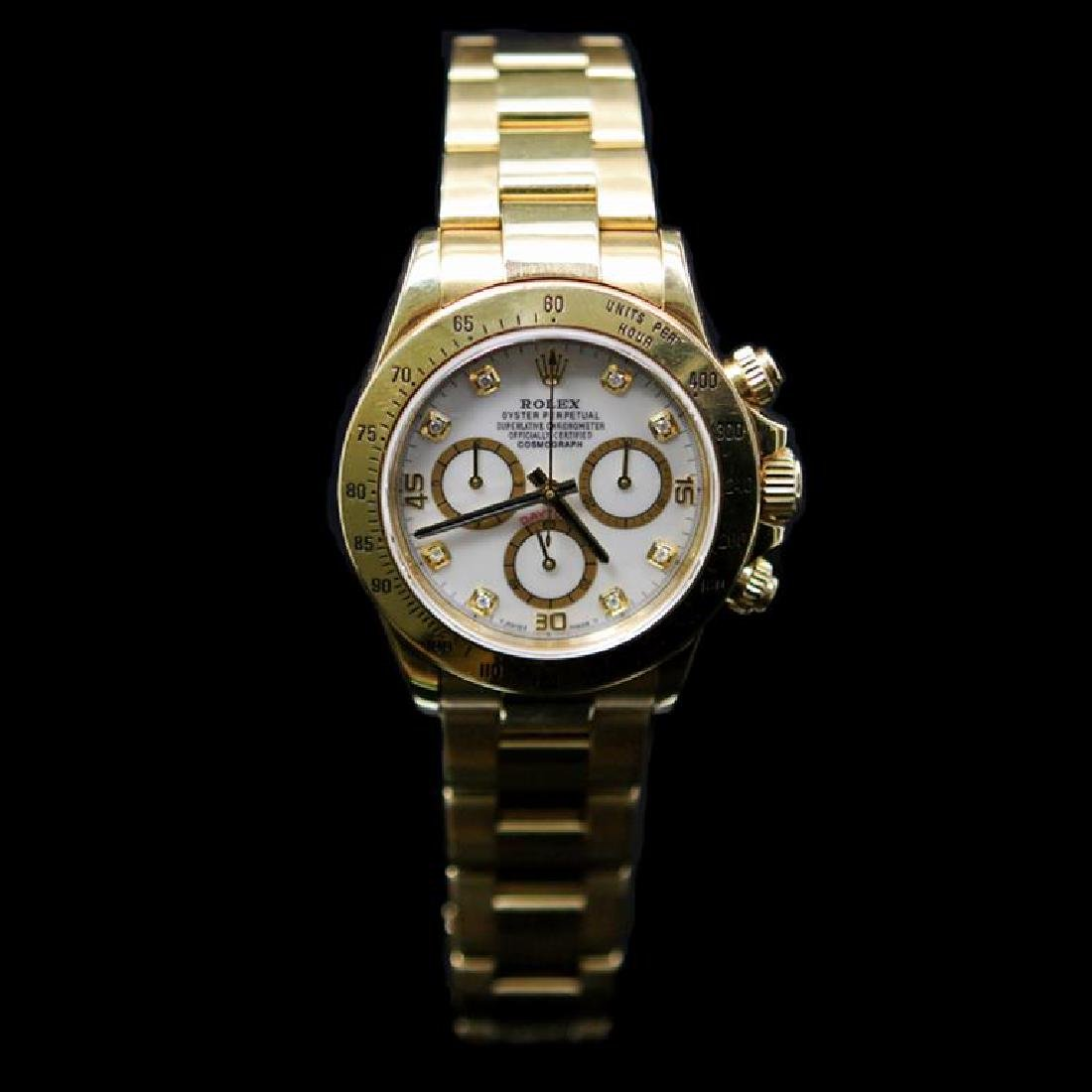 Rolex Daytona 40mm 18K Yellow Gold MOP Diamond Dial