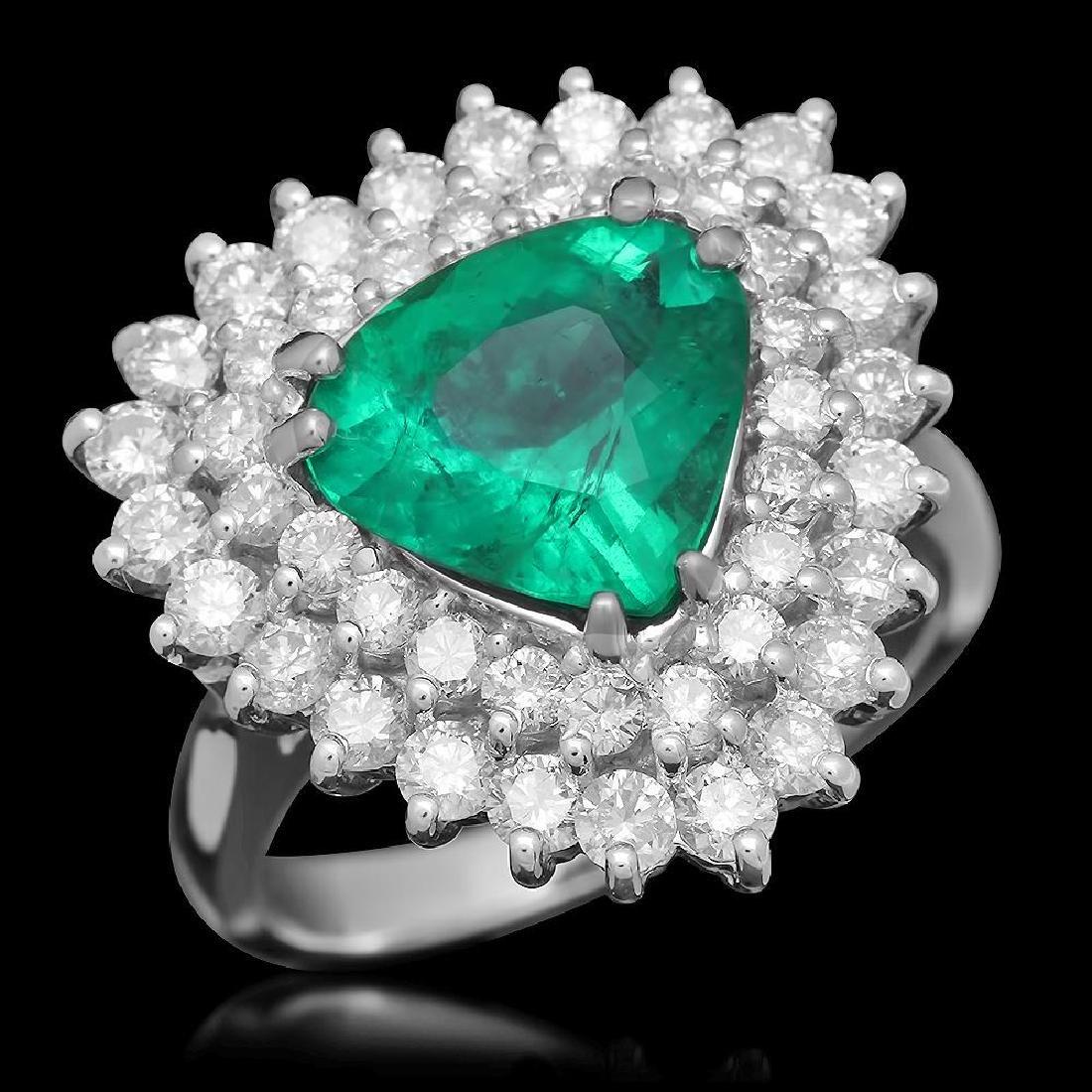 14K Gold 2.28 Emerald 1.70 Diamond Ring
