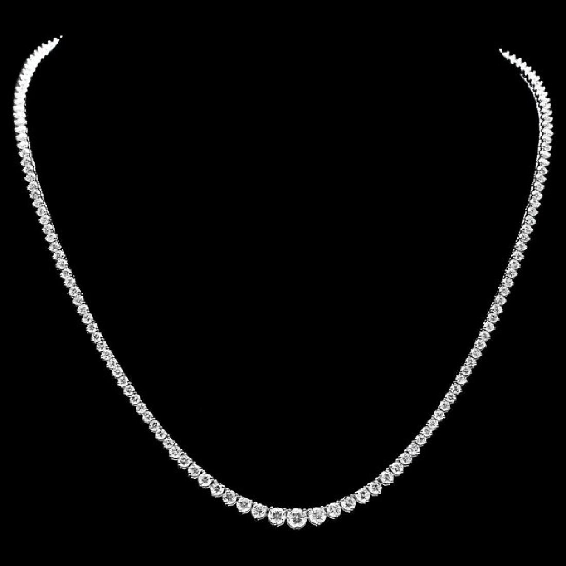 18k White Gold 9.00ct Diamond Necklace