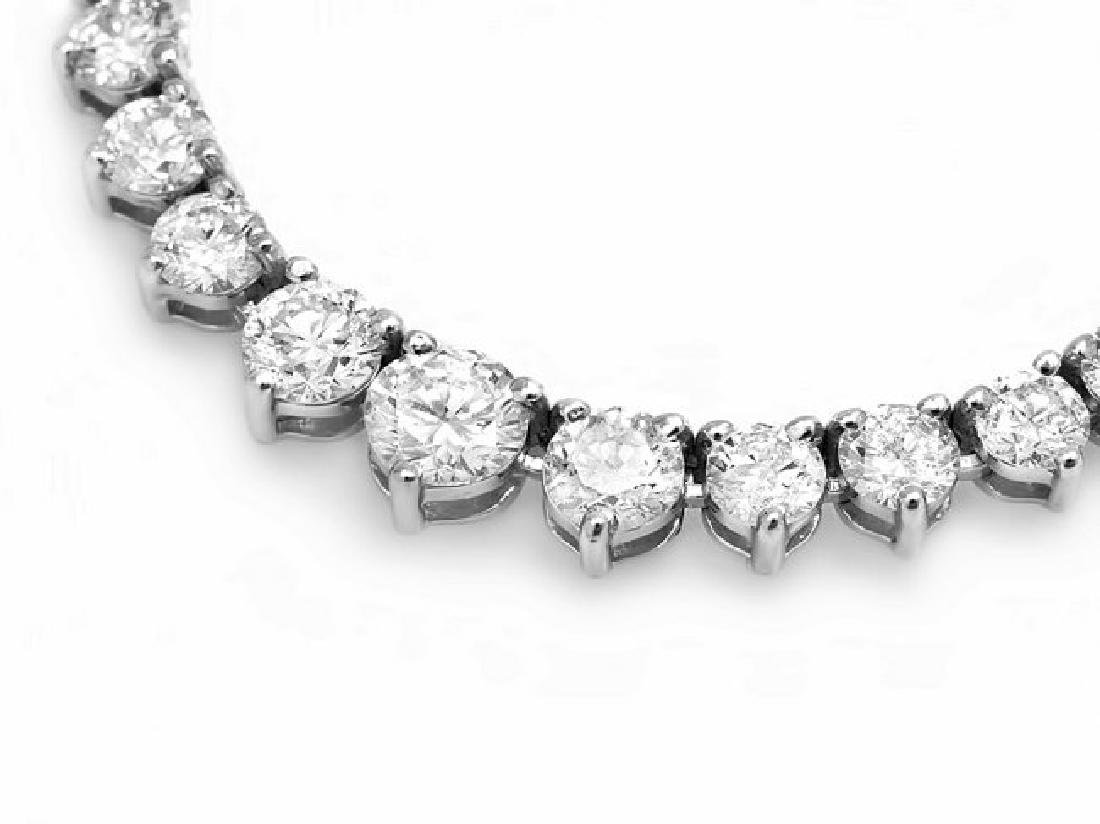 18k White Gold 9.00ct Diamond Necklace - 2