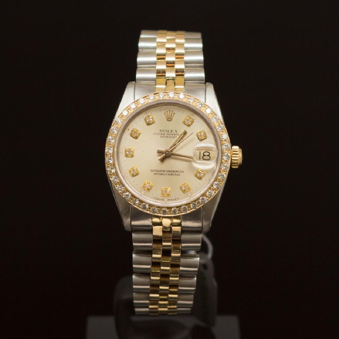 Rolex Two-Tone Datejust 31mm Diamond Dial Diamond Bezel